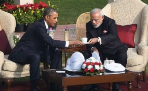 Obama and Modi - chai pe charcha